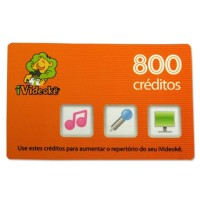 Cartão pré-pago 800 créditos